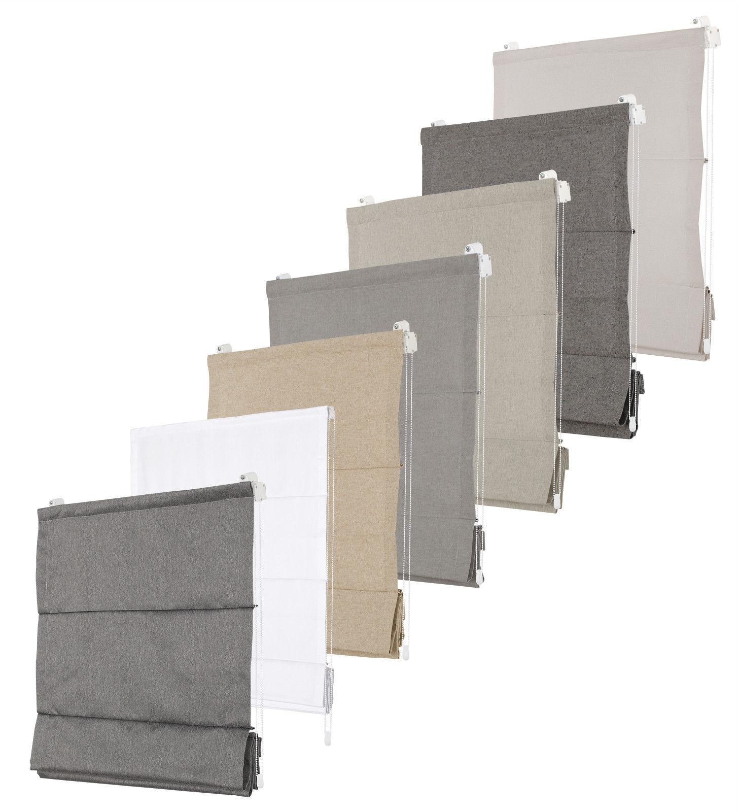 premium raffrollo faltrollo jalousie grau sand antrazit. Black Bedroom Furniture Sets. Home Design Ideas