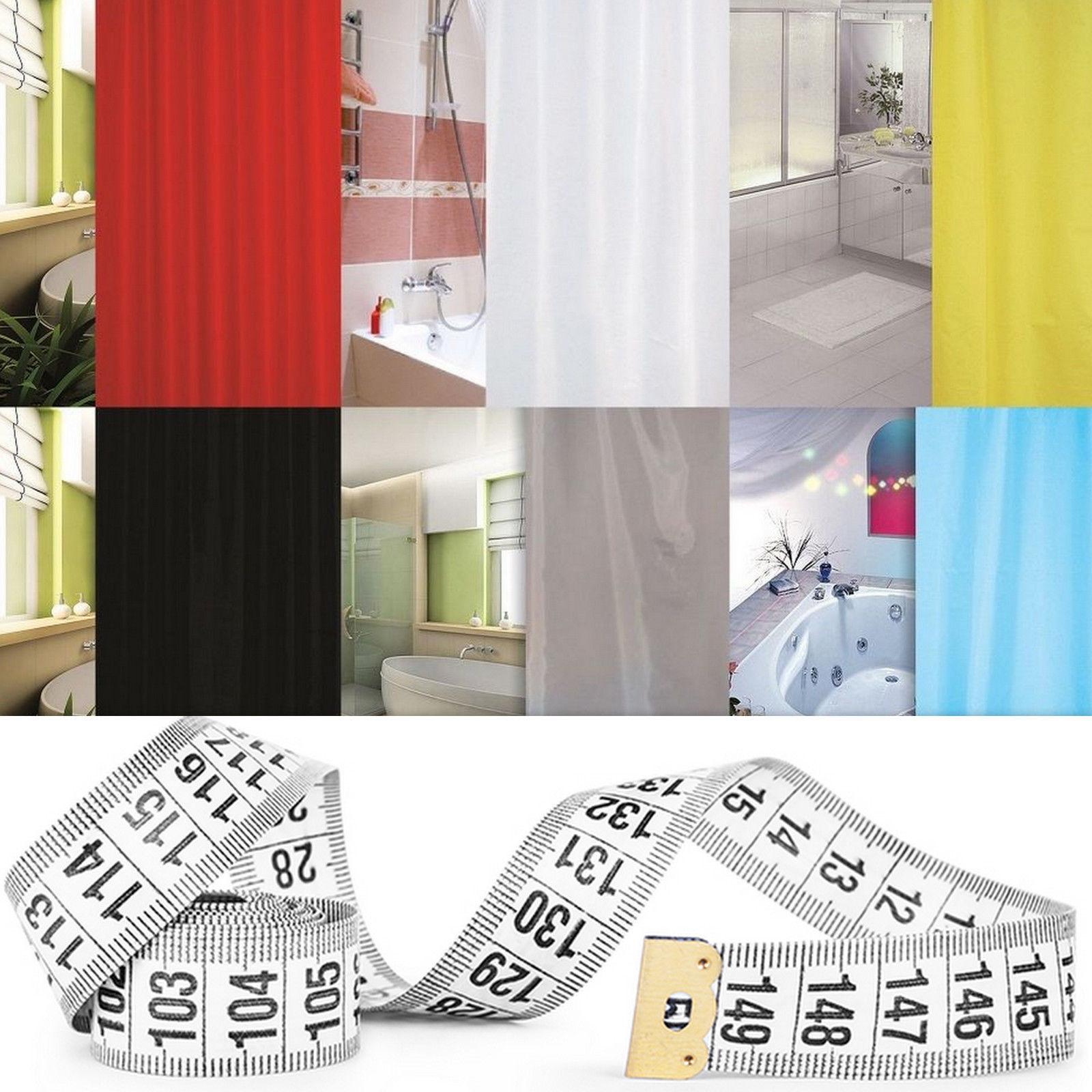Duschvorhang 240x200 textil duschvorhang 240x200 cm blau rot schwarz grau braun grün duschabtrennung ebay