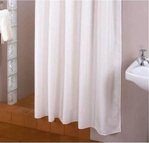 extra lang textil duschvorhang weiss 200x220 cm inkl. Black Bedroom Furniture Sets. Home Design Ideas