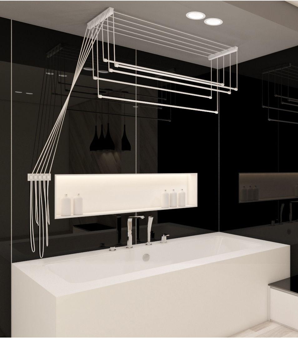 w schetrockner 1 00 2 00 m deckentrockner w schest nder w sche trockner ebay. Black Bedroom Furniture Sets. Home Design Ideas