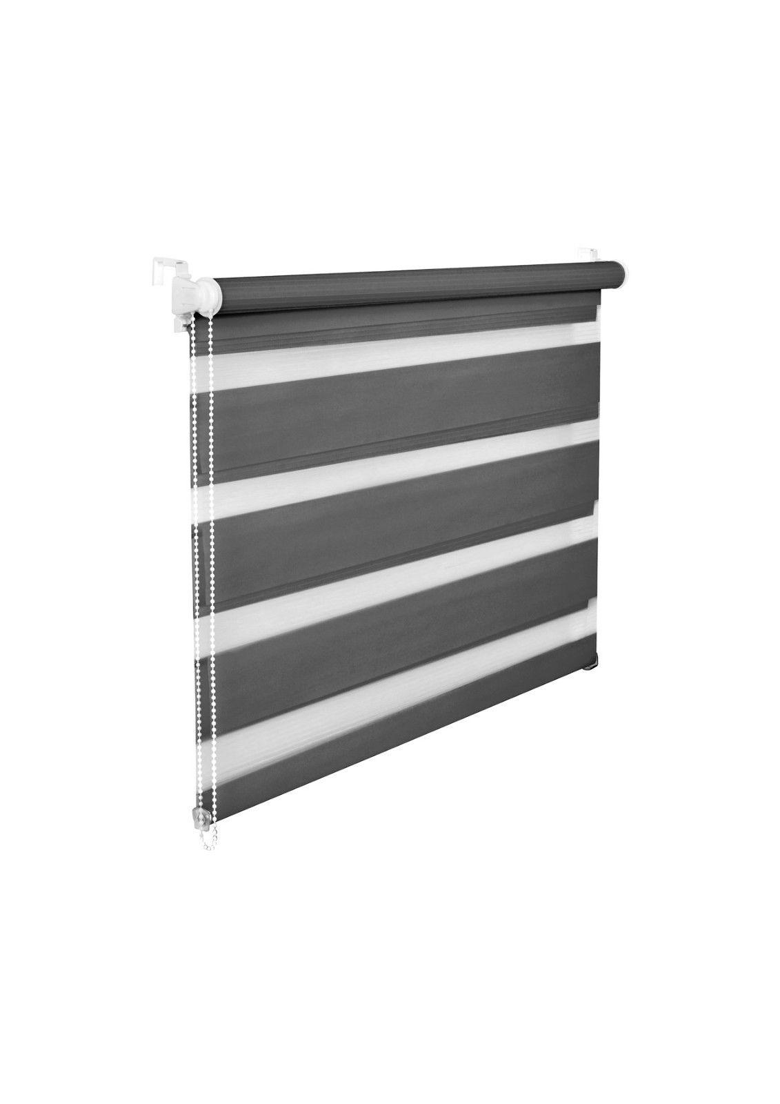 doppelrollo duorollo 200 cm l nge fensterrollo jalousie schwarz weiss grau rot ebay. Black Bedroom Furniture Sets. Home Design Ideas