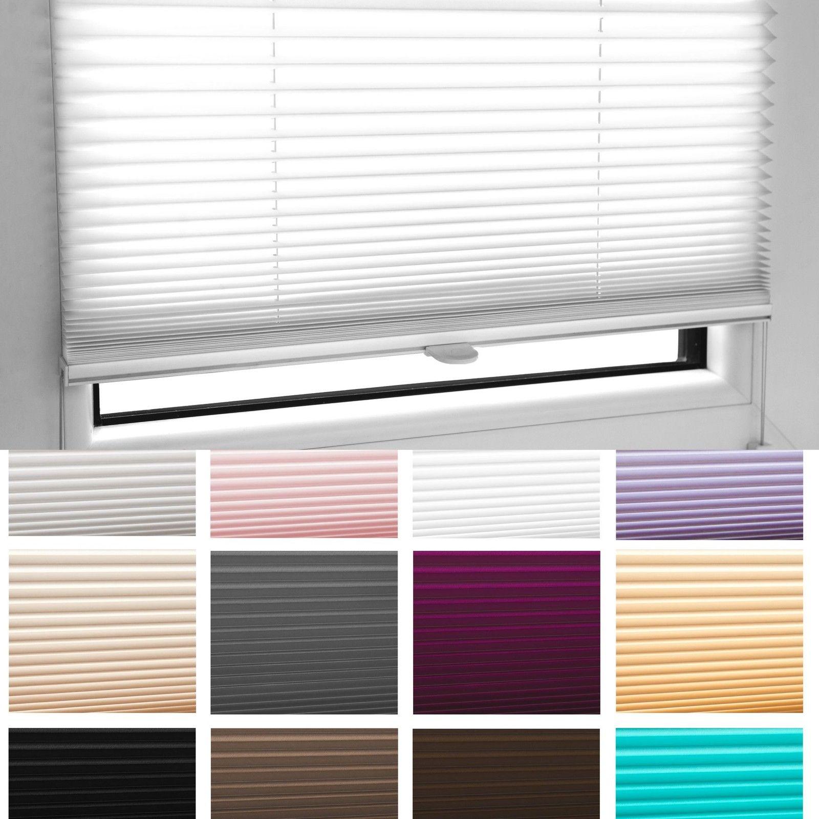 plissee faltrollo inkl klemmtr ger weiss grau schwarz. Black Bedroom Furniture Sets. Home Design Ideas