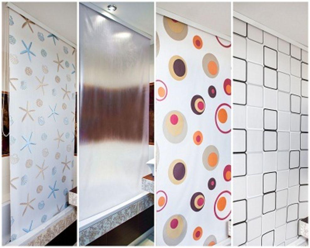 duschrollo quadro 7 breiten zur wahl ab 10 90 euro duschvorhang grau weiss 240 ebay. Black Bedroom Furniture Sets. Home Design Ideas