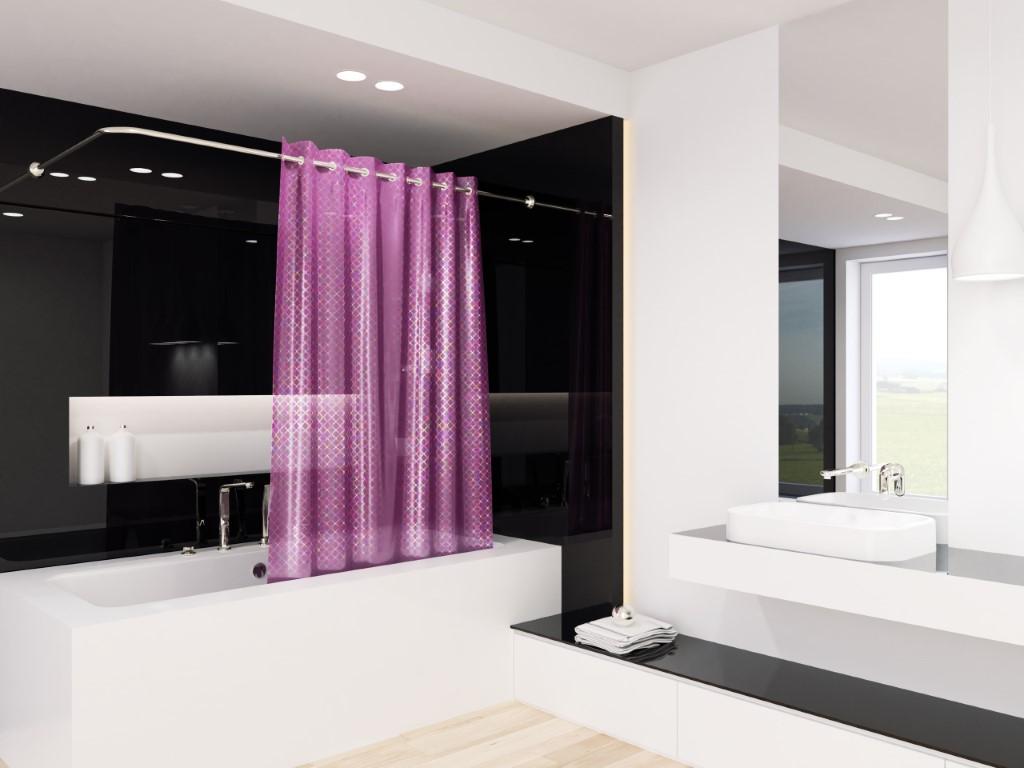 Tende Da Doccia Design : Peva tenda della doccia laser viola porpora d multicolore